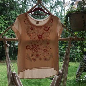 Sundance size M pink blouse